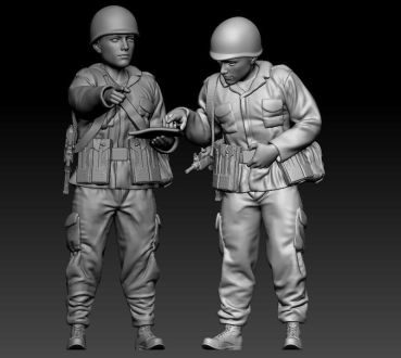 3D printing of single figure 1/35